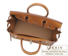 Hermes Birkin bag 30 Gold Clemence leather Silver hardware