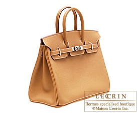 Hermes Birkin bag 25 Natural Epsom leather Silver hardware