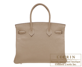 Hermes Birkin bag 30 Gris tourterelle Togo leather Silver hardware