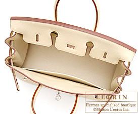 Hermes Birkin bag 25 Parchemin Togo leather Silver hardware