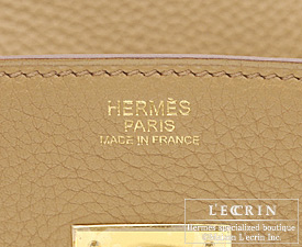 Hermes Birkin bag 30 Tabac camel Clemence leather Gold hardware