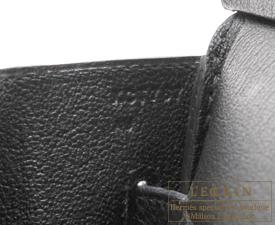 Hermes Birkin bag 35 Black Clemence leather Gold hardware