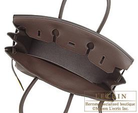Hermes Birkin bag 35 Chocolat/Chocolate Togo leather Gold hardware