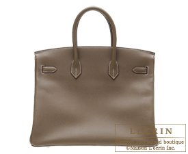Hermes Birkin bag 35 Etoup grey Epsom leather Silver hardware