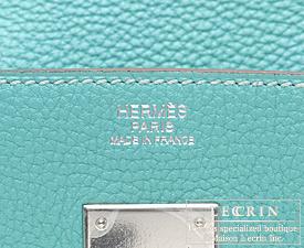 Hermes Birkin bag 25 Lagon Togo leather Silver hardware