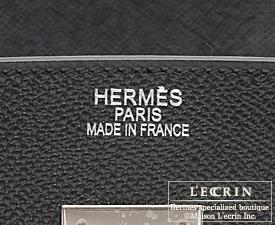 Hermes Birkin bag 40 Black Epsom leather Silver hardware