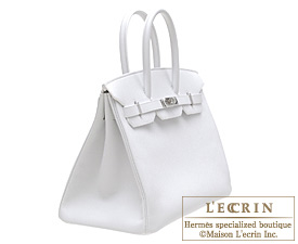 Hermes Birkin bag 35 White Epsom leather Silver hardware
