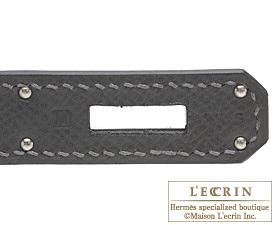 Hermes Birkin bag 40 Graphite Epsom leather Silver hardware