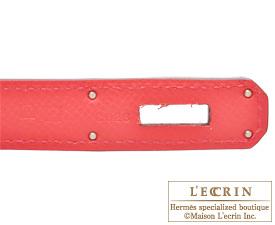 Hermes Birkin bag 30 Bougainvillier Epsom leather Silver hardware