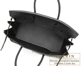 Hermes Birkin bag 40 Black Clemence leather Silver hardware