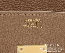 Hermes Birkin bag 25 Alezan Togo leather Gold hardware