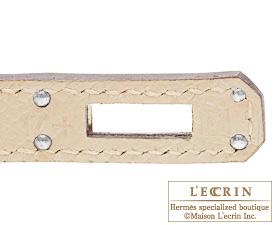 Hermes Birkin bag 25 Parchemin Epsom leather Silver hardware