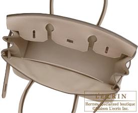 Hermes Birkin bag 40 Gris tourterelle/Mouse grey Clemence leather Silver hardware