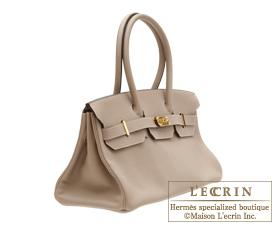 Hermes JPG Shoulder Birkin bag Gris tourterelle Clemence leather ...