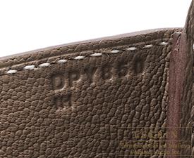Hermes Birkin bag 35 Etoupe grey Epsom leather Gold hardware