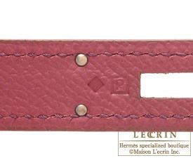 Hermes Birkin bag 25 Ruby Epsom leather Gold hardware