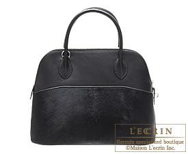 Hermes Bolide bag 31 Black Troika/Chamonix Silver hardware