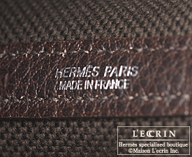 Hermes Garden Party bag PM Rouge garance Toile So H cotton canvas with Buffalo leather Silver hardware