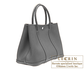 Hermes Garden Party bag TPM Ardoise Negonda leather Silver hardware