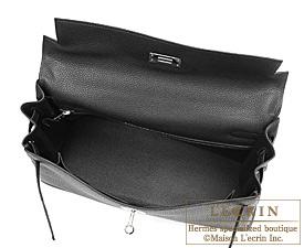Hermes Kelly bag 32 Black Togo leather Silver hardware