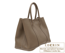how much is a birkin purse - Hermes Garden Party bag PM Etoupe grey Negonda leather Silver ...