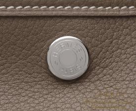 Hermes Garden Party bag TPM Etoup grey Negonda leather Silver hardware