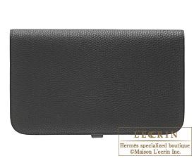 Hermes Dogon GM Black Togo leather Gold hardware