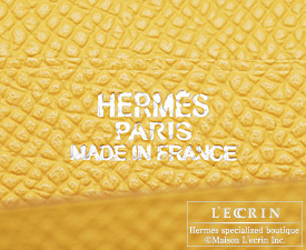 Hermes Bearn Soufflet Soleil/Soleil yellow Epsom leather Silver hardware