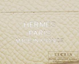 Hermes Bearn Soufflet Parchemin/Alezan Epsom leather Silver hardware