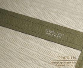 Hermes Garden Party bag PM Vert veronese Negonda leather Silver hardware