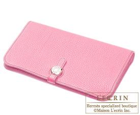 Hermes Dogon GM Pink Togo leather Silver hardware