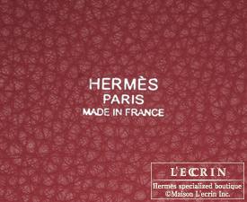 Hermes Birkin bag 30 Ruby/Dark red Clemence leather Silver hardware