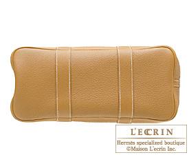 Hermes Garden Party bag TPM Natural sable Fjord leather Silver hardware