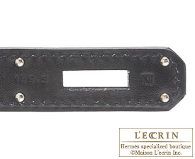 Hermes So-black Kelly bag 32 Retourne Black Box calf leather Black hardware