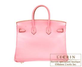 Hermes Birkin bag 35 Pink Togo leather Silver hardware