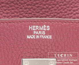 Hermes Birkin bag 35 Bois de rose/Rose wood Clemence leather Silver hardware