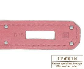 Hermes Birkin bag 30 Bois de rose Clemence leather Silver hardware