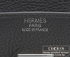 Hermes Birkin bag 35 Black Clemence leather Silver hardware