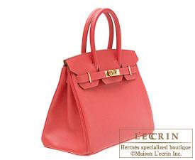 Hermes Birkin bag 25 Bougainvillier Epsom leather Gold hardware