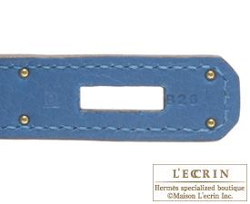 Hermes Birkin bag 30 Mykonos Togo leather Gold hardware