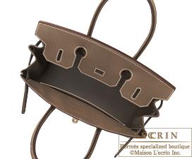 Hermes Birkin bag 30 Etoup grey Epsom leather Silver hardware