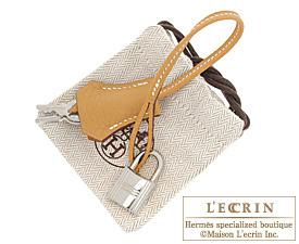 Hermes Birkin bag 30 Natural sable Fjord leather Silver hardware