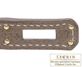 Hermes Birkin bag 25 Etoupe grey Epsom leather Gold hardware