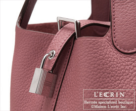 Hermes Picotin Lock bag PM Rose wood/Bois de rose Clemence leather Silver hardware