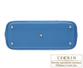Hermes Bolide bag 31 Mykonos Clemence leather Silver hardware