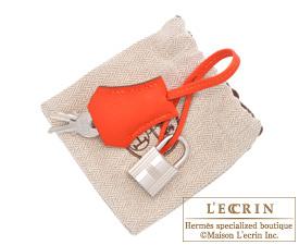 Hermes Birkin bag 25 Feu Epsom leather Silver hardware
