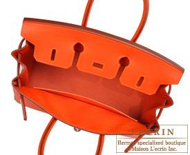 Hermes Birkin bag 25 Feu Epsom leather Gold hardware