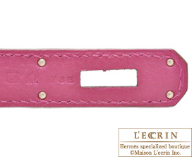 Hermes Birkin bag 30 Tosca Clemence leather Silver hardware
