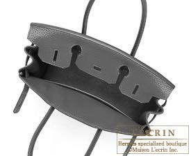 Hermes Birkin bag 30 Graphite Clemence leather Gold hardware