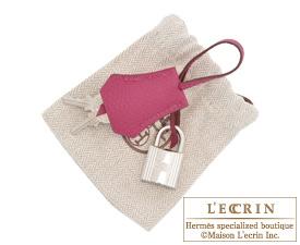 Hermes Birkin bag 25 Tosca Togo leather Silver hardware